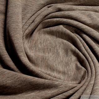 0, 5 Meter Baumwolle Polyester Elastan Single Jersey beige angeraut Winter-Sweat - Vorschau 3