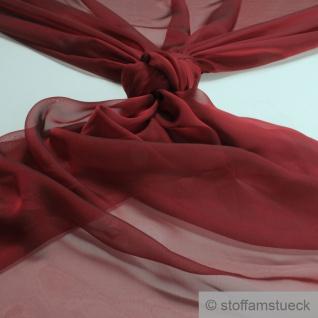 10 Meter Stoff Polyester Changeant Chiffon bordeaux transparent sehr leicht