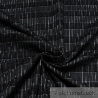 Stoff Baumwolle schwarz Streifen anthrazit hellgrau Baumwollstoff