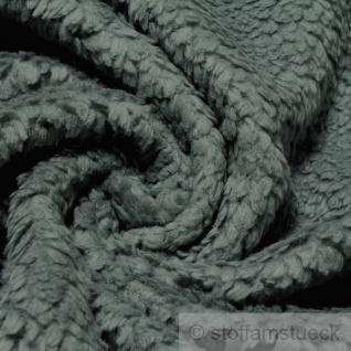 Stoff Baumwolle Plüsch Teddy grau Webpelz weich flauschig anthrazit