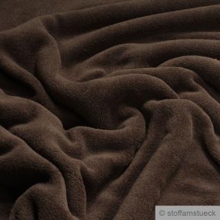 Stoff Polyester Wellness Fleece schokobraun Kuschelfleece braun