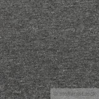 0, 5 Meter Baumwolle Polyester Elastan Bündchen dunkelgrau meliert - Vorschau 2