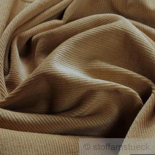 Stoff Baumwolle Cord beige Baumwollstoff Babycord Feincord