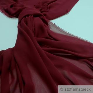 Stoff Polyester Chiffon bordeaux transparent leicht weich fallend