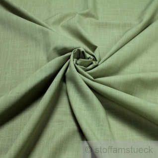 2 Meter Stoff Baumwolle Viskose Leinwand mint Flammgarn transparent hellgrün