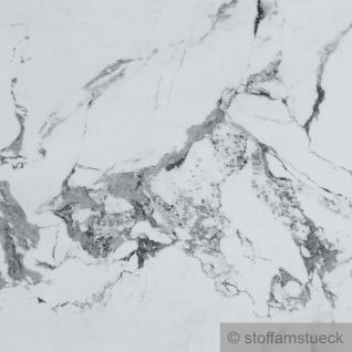 Stoff PVC Kunstleder weißer Marmor wie echt durchzogen mit Einschlüssen - Vorschau 2