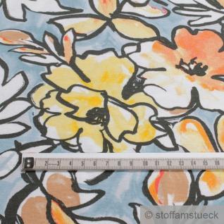 Stoff Viskose Elastan Single Jersey hellblau Blume fließend fallend Blumen - Vorschau 4