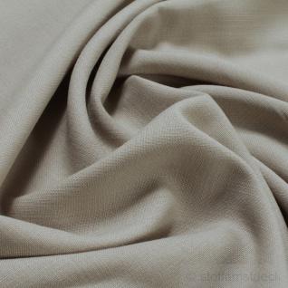 Stoff Polyester Viskose Leinwand beige knitterarm Mischgewebe