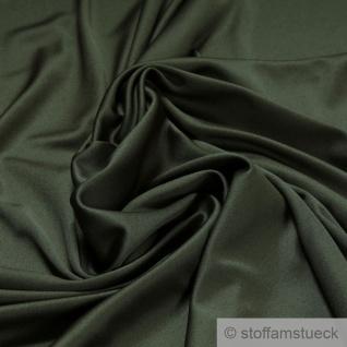 Stoff Polyester Elastan Interlock Jersey oliv leicht bi-elastisch