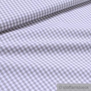 Stoff Baumwolle Vichy Karo groß hellgrau weiß 5 mm Swafing Canstein