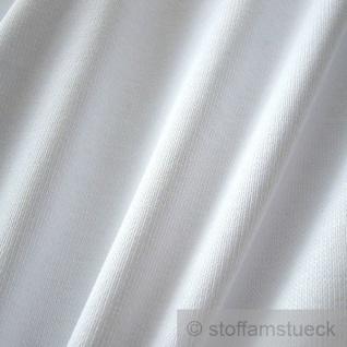 0, 5 Meter Baumwolle Lycra Bündchen weiß kbA GOTS 82 cm breit C.PAULI - Vorschau 1