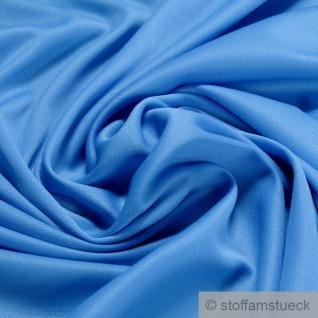 Stoff Polyester Elastan Interlock Jersey wasserblau leicht bi-elastisch blau
