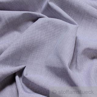 Stoff Baumwolle Nadelstreifen dunkelblau weiß 1 mm Hairline-Streifen
