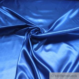 Stoff Polyester Satin kobaltblau leicht blickdicht glänzend glatt blau