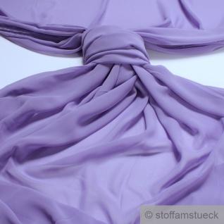 Stoff Polyester Chiffon flieder transparent leicht weich fallend blasslila