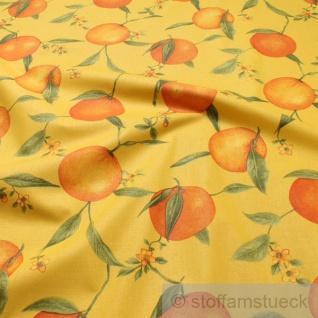 Stoff Baumwolle gelb Orange Baumwollstoff 162 cm breit