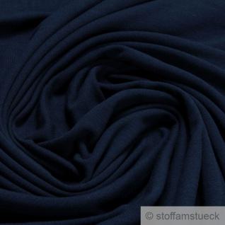 0, 5 Meter Stoff Bambus Elastan Single Jersey French Terry dunkelblau knitterarm