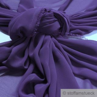 Stoff Polyester Chiffon lila transparent leicht weich fallend