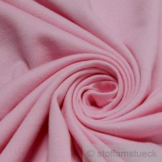0, 5 Meter Stoff Baumwolle Single Jersey rosa angeraut Sweatshirt weich dehnbar