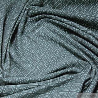 Stoff Baumwolle Lycra Single Jersey Raute graphit türkis Oeko-Tex Standard 100