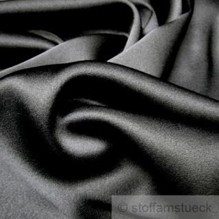 Stoff Seide Elastan Satin schwarz weich fließend Stretch elastisch edel