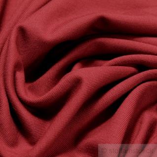 0, 5 Meter Stoff Baumwolle Elastan Single Jersey terracotta T-Shirt weich dehnbar - Vorschau 2