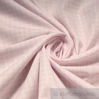 Stoff Baumwolle Popeline Kreise weiß rosa Baumwollstoff Kreis Punkt