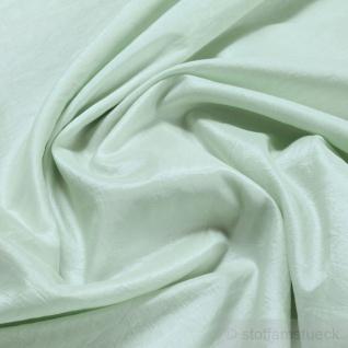Stoff Polyester Crash Kleidertaft pastellgrün gecrasht Edelknitter blaßgrün grün