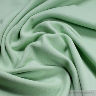 Stoff Baumwolle Interlock Jersey pastellgrün T-Shirt Tricot weich dehnbar