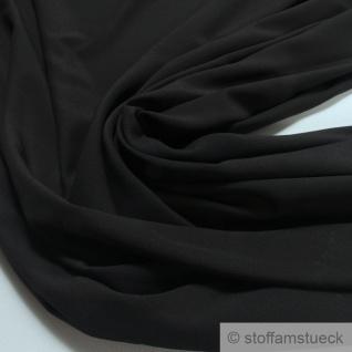Stoff Polyester Crêpe de Chine leicht schwarz knitterarm