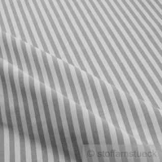 Stoff Baumwolle Bauernstreifen grau weiß 1 cm Streifen