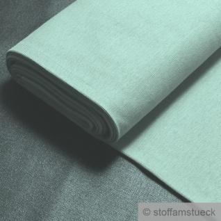 0, 5 Meter Stoff Baumwolle Elastan Bündchen mint 45 cm breit Fibre Mood