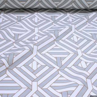 Stoff Baumwolle Rips Geometrie Raute