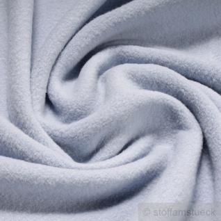 Stoff Baumwolle Fleece hellblau Baumwollfleece reine Baumwolle pastell weich flauschig blau