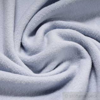 Stoff Baumwolle Fleece hellblau Baumwollfleece reine Baumwolle