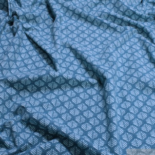 Stoff Baumwolle Elastan Single Jersey Blatt petrol türkis Blättchen