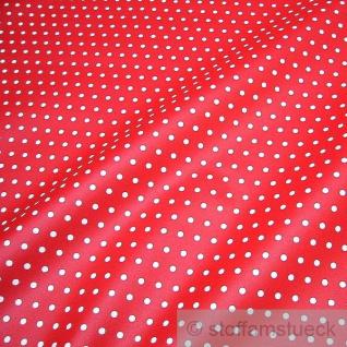 Stoff Baumwolle Acryl Punkte klein rot weiß Regenjacke Wachstuch Tischdecke