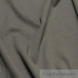 0, 5 Meter Stoff Baumwolle Interlock Jersey dunkelgrau T-Shirt weich dehnbar - Vorschau 2