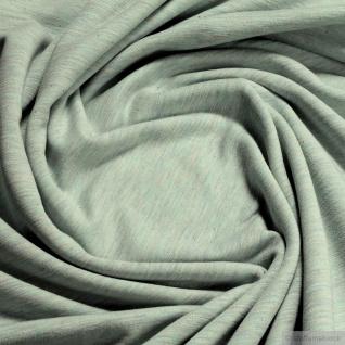 0, 5 Meter Baumwolle Polyester Single Jersey pastelltürkis angeraut Winter-Sweat - Vorschau 3