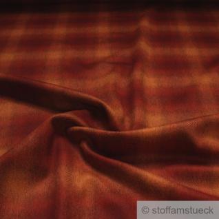 Stoff Wolle Polyamid Köper Karo orange terracotta angeraut Polsterstoff Vorhang