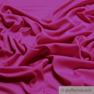 Stoff Polyester Elastan Interlock Jersey fuchsia leicht bi-elastisch