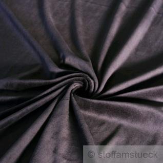 Stoff Baumwolle Polyester Nicki schwarz Nicky weich