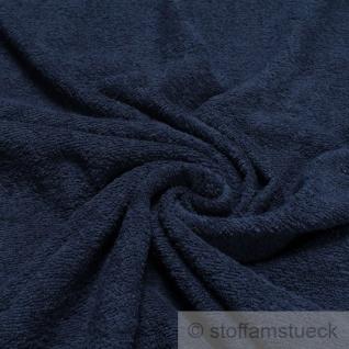 Stoff Baumwolle Frottee dunkelblau Frotté zweiseitig Baumwollstoff marine weich