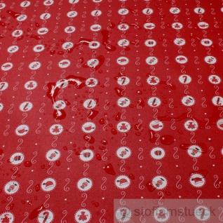Stoff Baumwolle Acryl rot Kreis Weihnachten Regenjacke beschichtet Engel