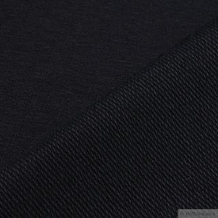 0, 5 Meter Stoff Baumwolle Elastan Single Jersey French Terry schwarz - Vorschau 2