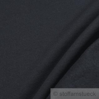 Stoff Baumwolle Single Jersey dunkelblau angeraut Sweatshirt weich dehnbar blau - Vorschau 3