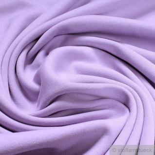 0, 5 Meter Stoff Baumwolle Interlock Jersey flieder T-Shirt Tricot weich dehnbar