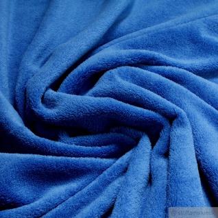 Stoff Polyester Wellness Fleece kobaltblau Kuschelfleece blau - Vorschau 1