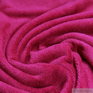 Stoff Polyester Wellness Fleece himbeere Kuschelfleece rasp berry
