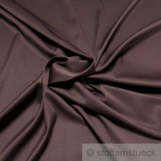 Stoff Polyester Elastan Satin aubergine elastisch dehnbar lila violett